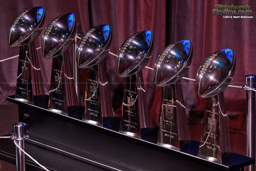 Steelers Six Lombardi Trophies
