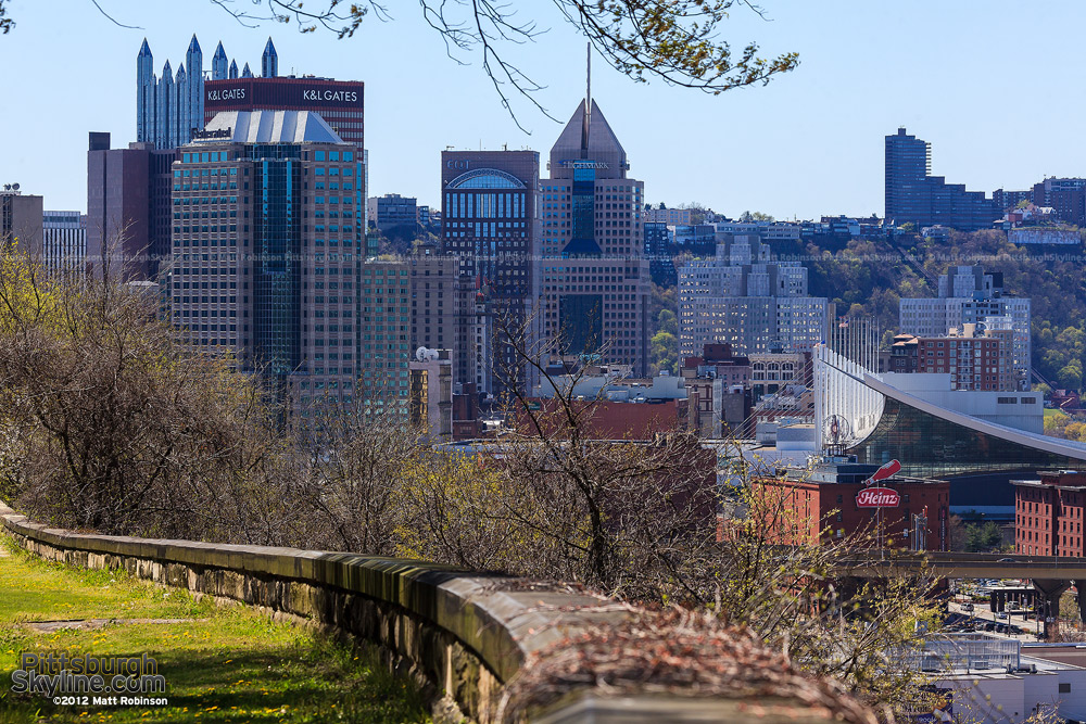 Downtown Pittsburgh from Frank Curto Park
