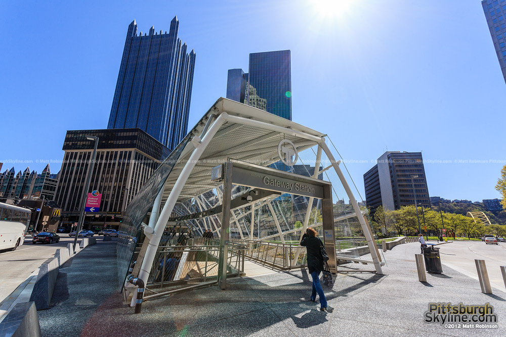 Gateway Station T stop in Downtown Pittsburgh