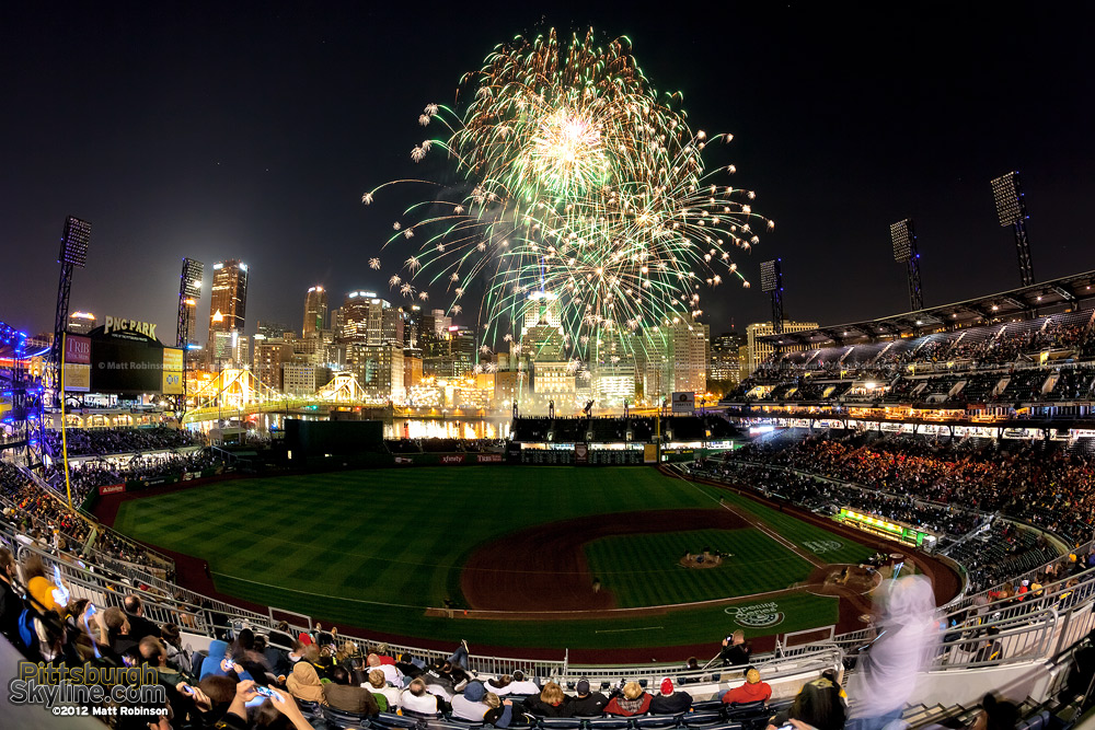 Fireworks from inside PNC Park