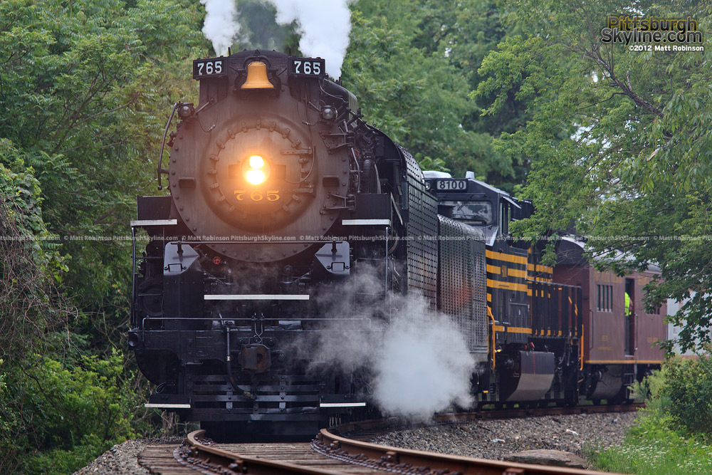 Steam Locomotive NKP 765 at Homewood Junction, PA