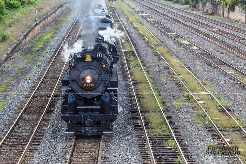 Steam Engine NKP 765 passes through California-Kirkbride on the North Side of Pittsburgh