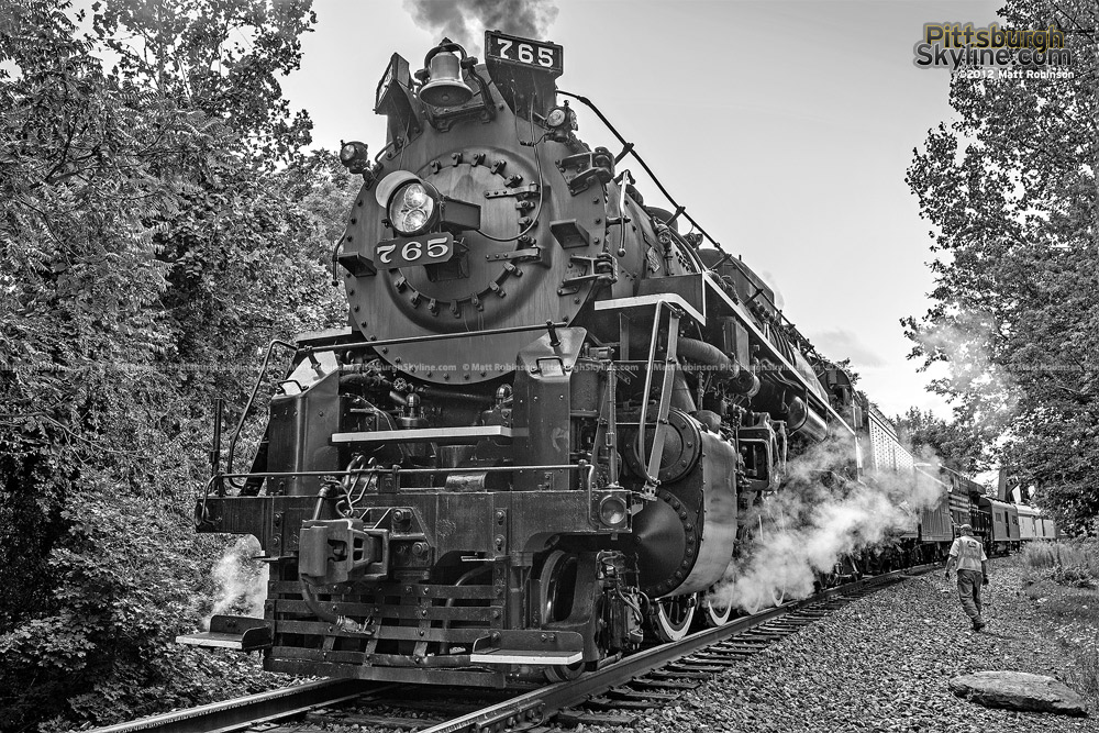 Black and White photo of Nickel Plate Road 765