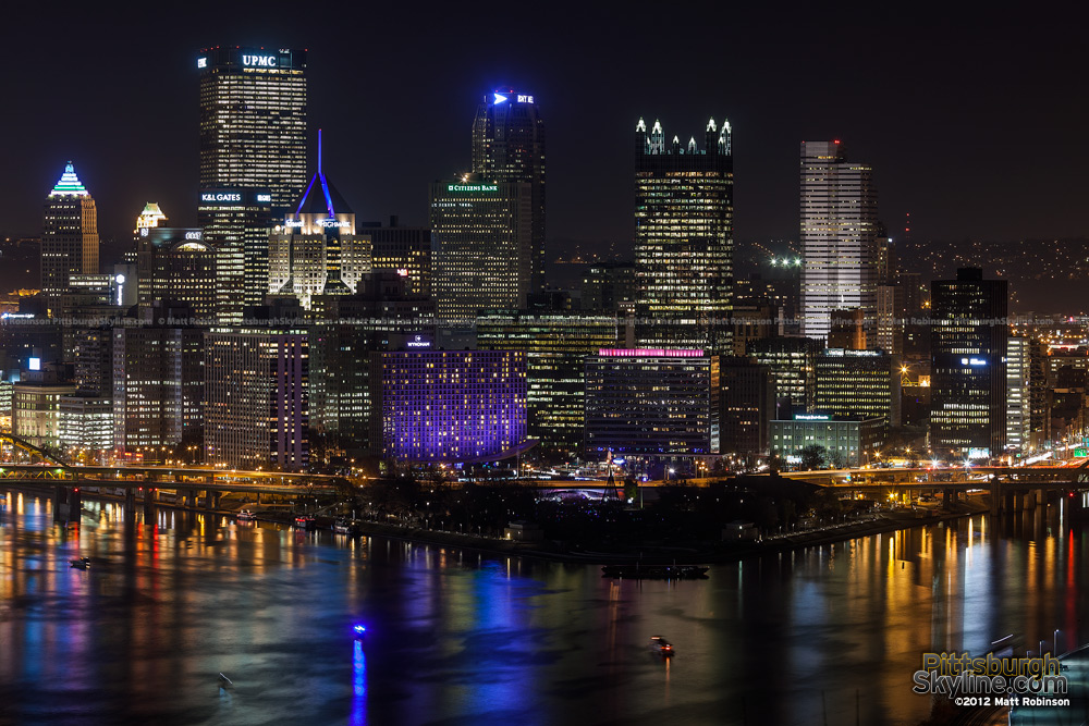 Pittsburgh Light Up Night 2012 from West End Overlook - 2
