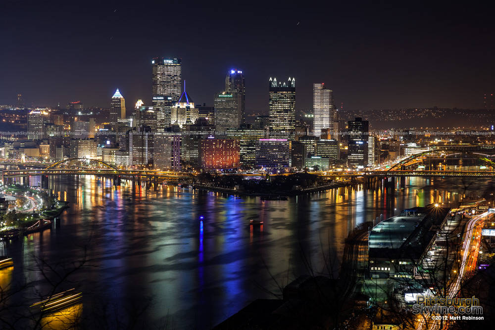 Three rivers of Pittsburgh on Light Up Night