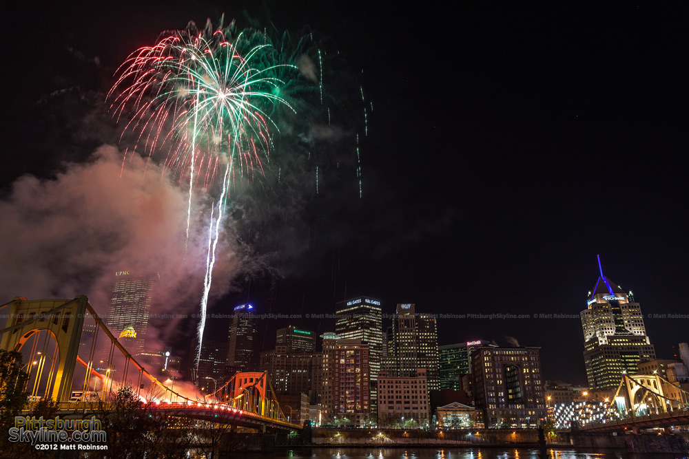 Fireworks on the Warhol Bridge Light Up Night 2012 - 3