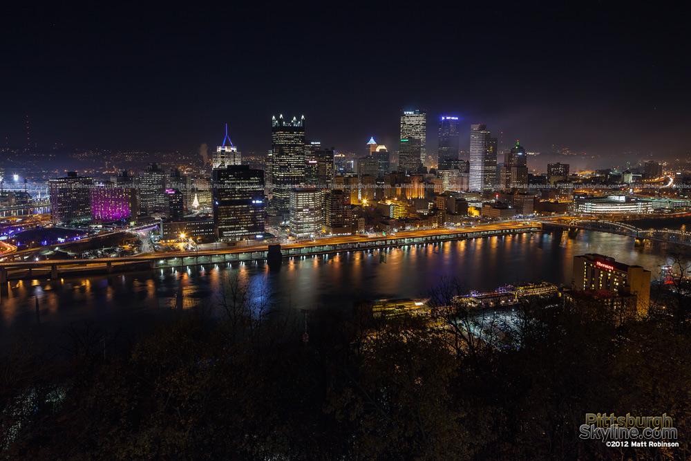 Pittsburgh Skyline on Light Up Night 2012 from Mt. Washington