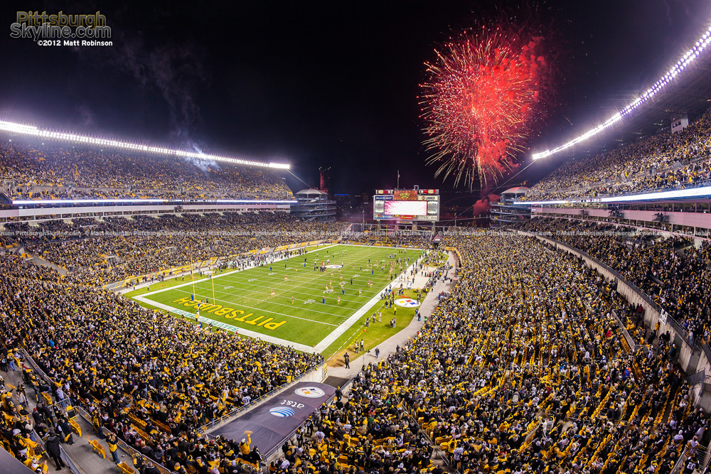 Fireworks at Heinz Field with a Sellout Crowd