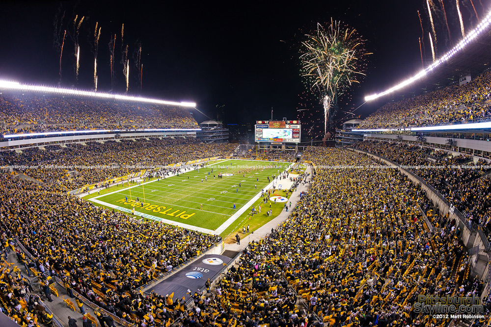 Pyrotechnics before a Steelers Game
