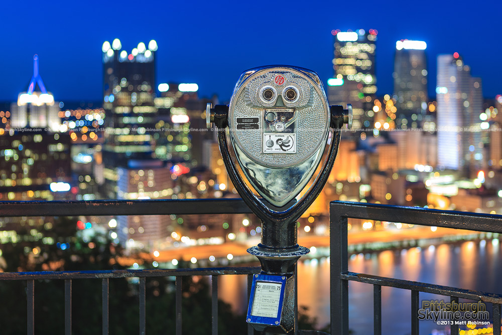 Viewfinder Focused on Downtown Pittsburgh