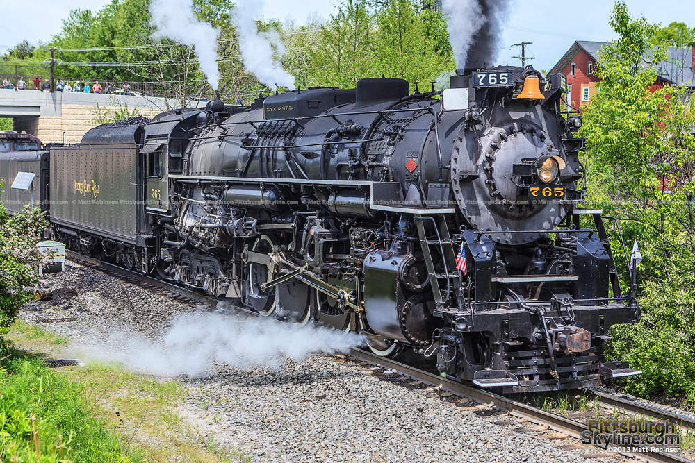 Steam engine NKP 765 in Gallitzin, PA