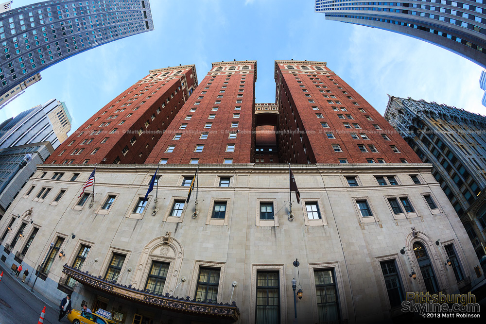 Fisheye of William Penn Hotel facing