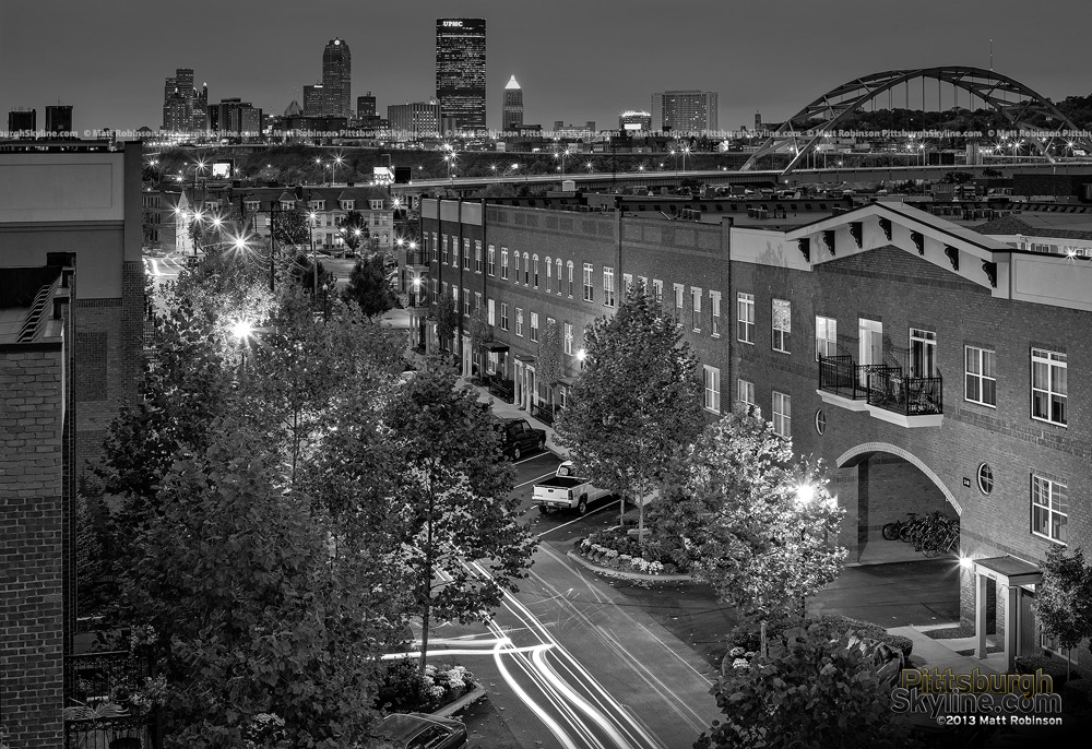 Black and White Pittsburgh from South Side Works