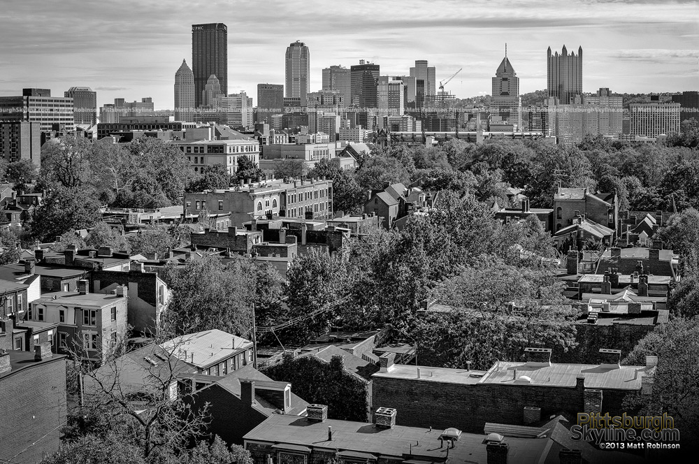 Black and White Pittsburgh from the North Side