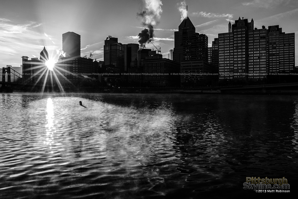 Black and White Pittsburgh Sunrise