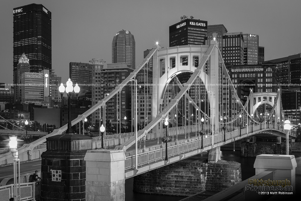 Black and White Roberto Clemente Bridge