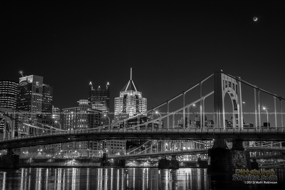 Pittsburgh Black and White Riverfront