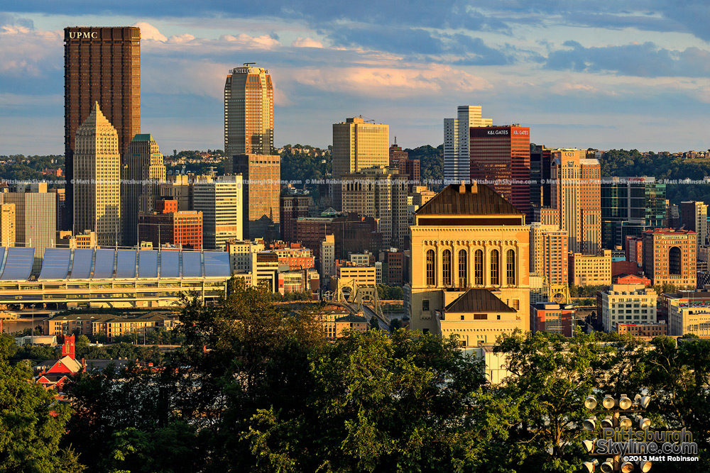 Golden Sunlight on the Pittsburgh skyline from Fineview