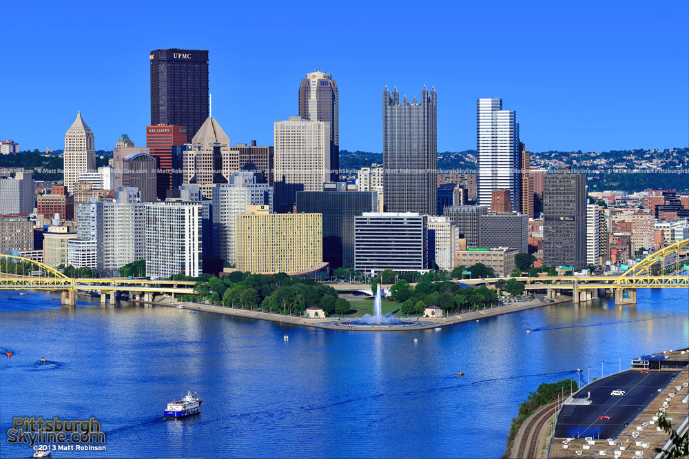 High Resolution Pittsburgh day time from the West End Overlook