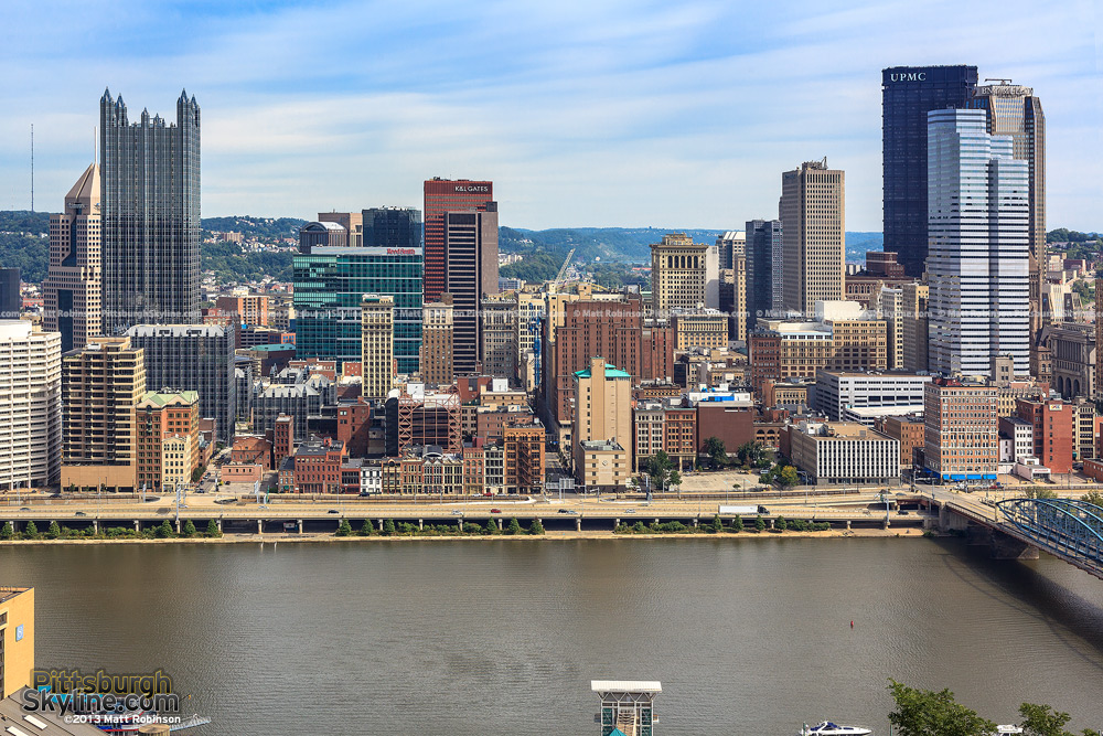 Downtown Pittsburgh Buildings from near the Monongahela Incline