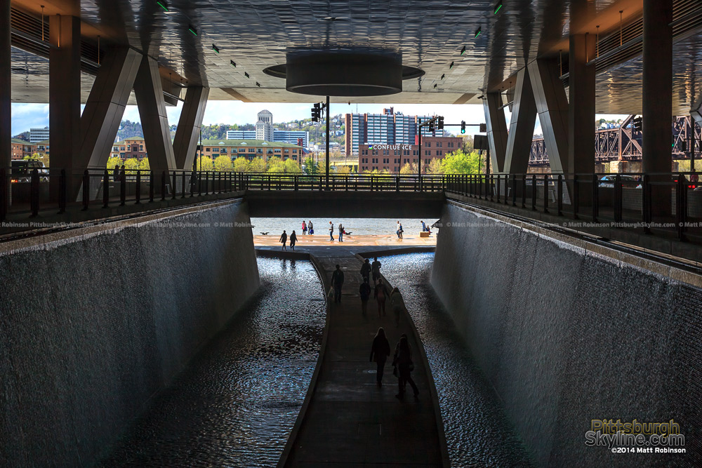 Waterway under Pittsburgh David Lawrence Convention Center