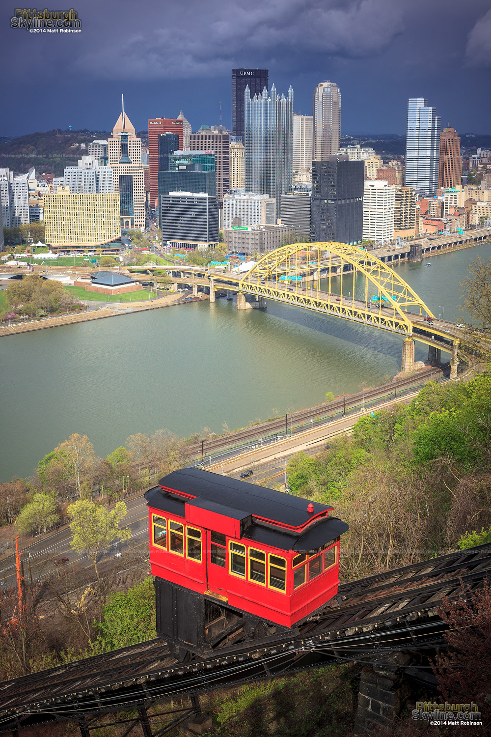 Downtown Pittsburgh with Duquesne Incline