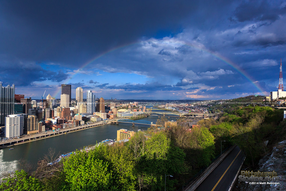 Full Rainbow over Pittsburgh from Mt. Washington