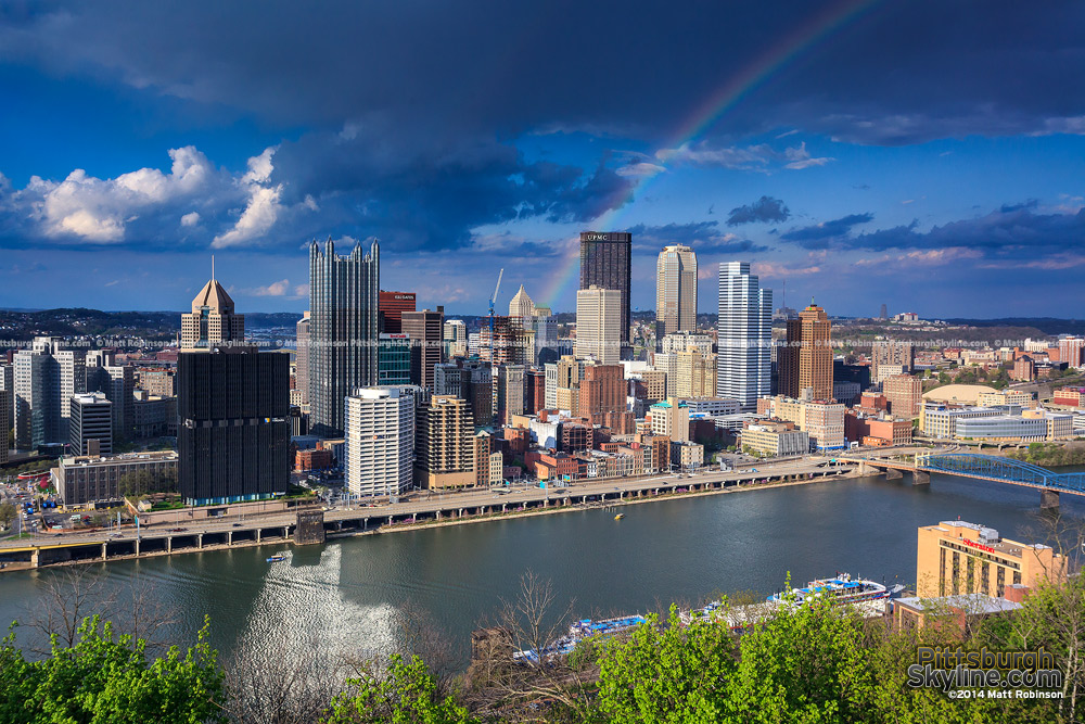 Rainbow over the Pittsburgh Skyline