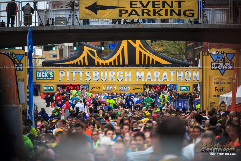 Pittsburgh Marathon Finish Line on Boulevard of the Allies
