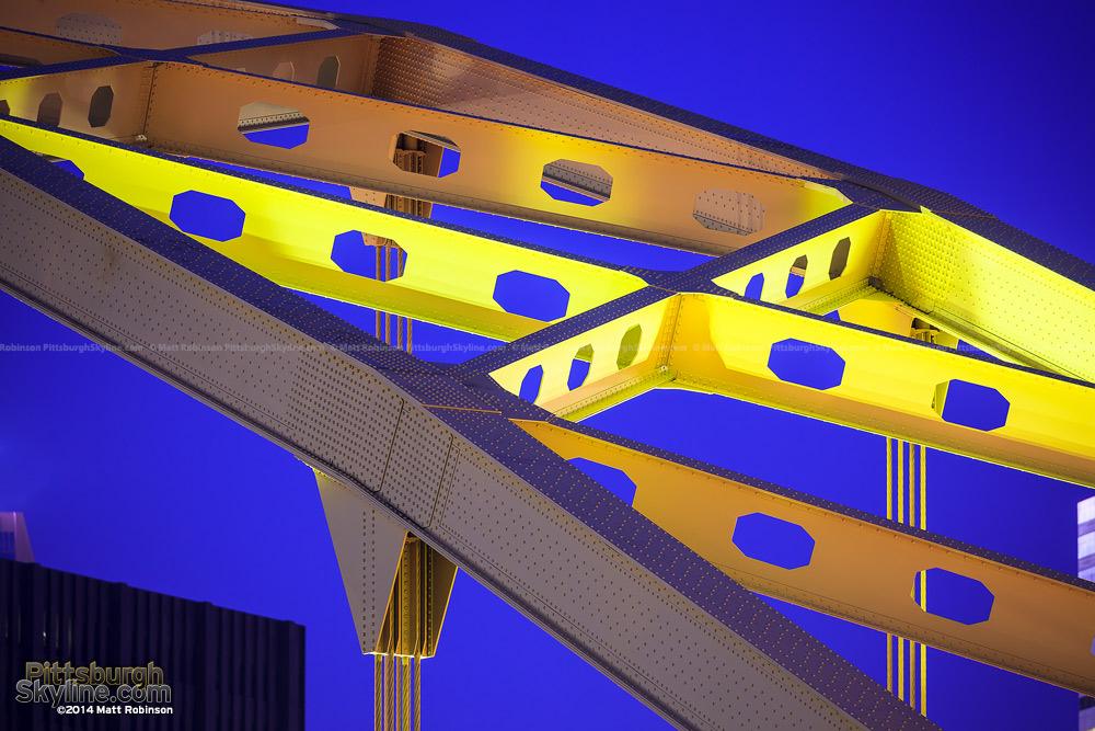 Yellow Fort Pitt Bridge