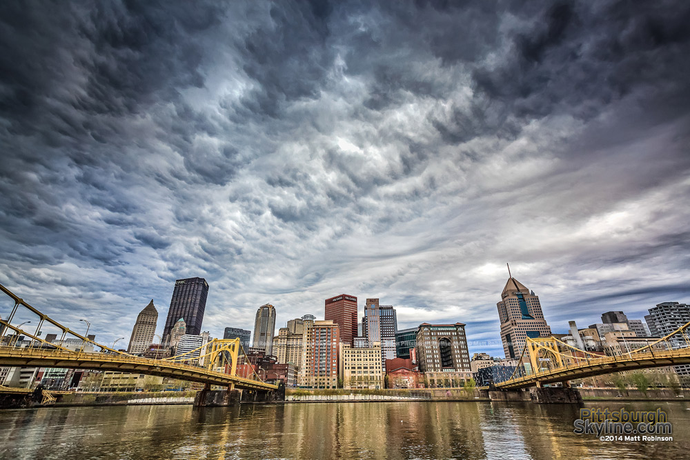 Ominous clouds over the Pittsburgh Skyline