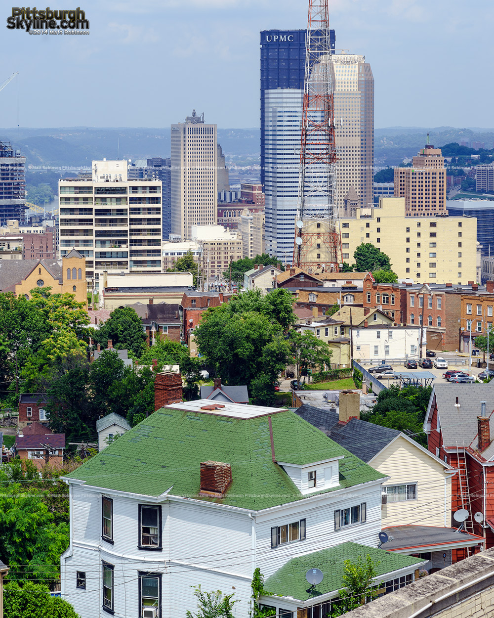 Downtown Pittsburgh with Mt. Washington Houses