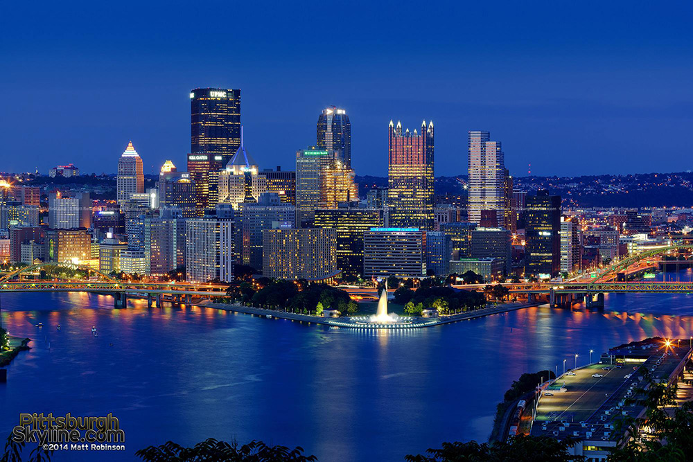 2014 Version of Downtown Pittsburgh at night