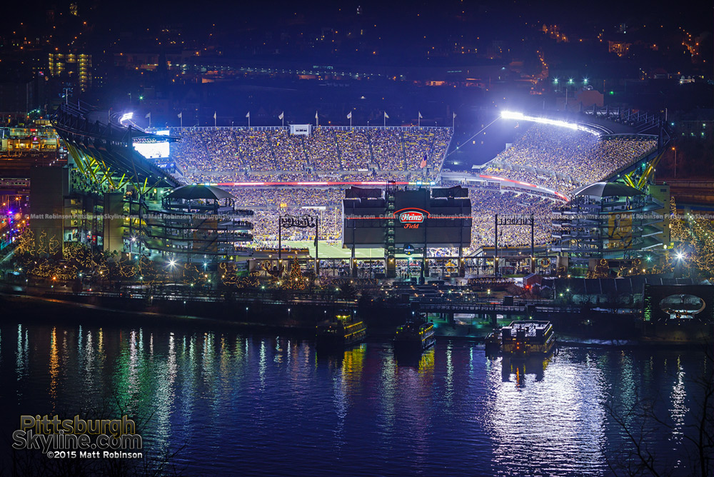 Heinz Field during a Steelers game at night