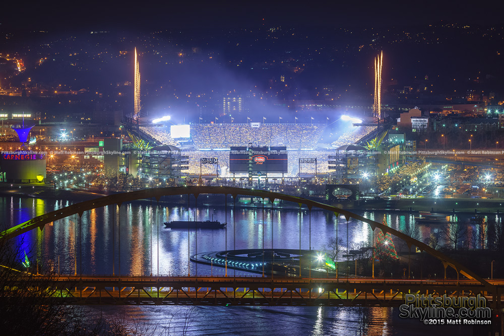 Fireworks Streak over Heinz Field