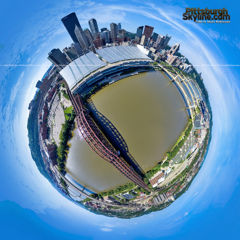 Pittsburgh Globe over the Allegheny River