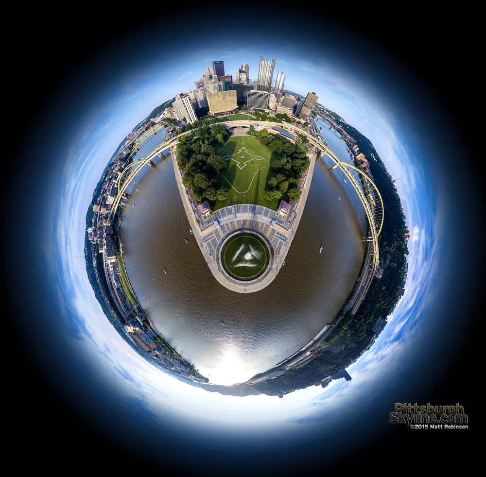 Its a Pittsburgh World - Globe Aerial over the Point