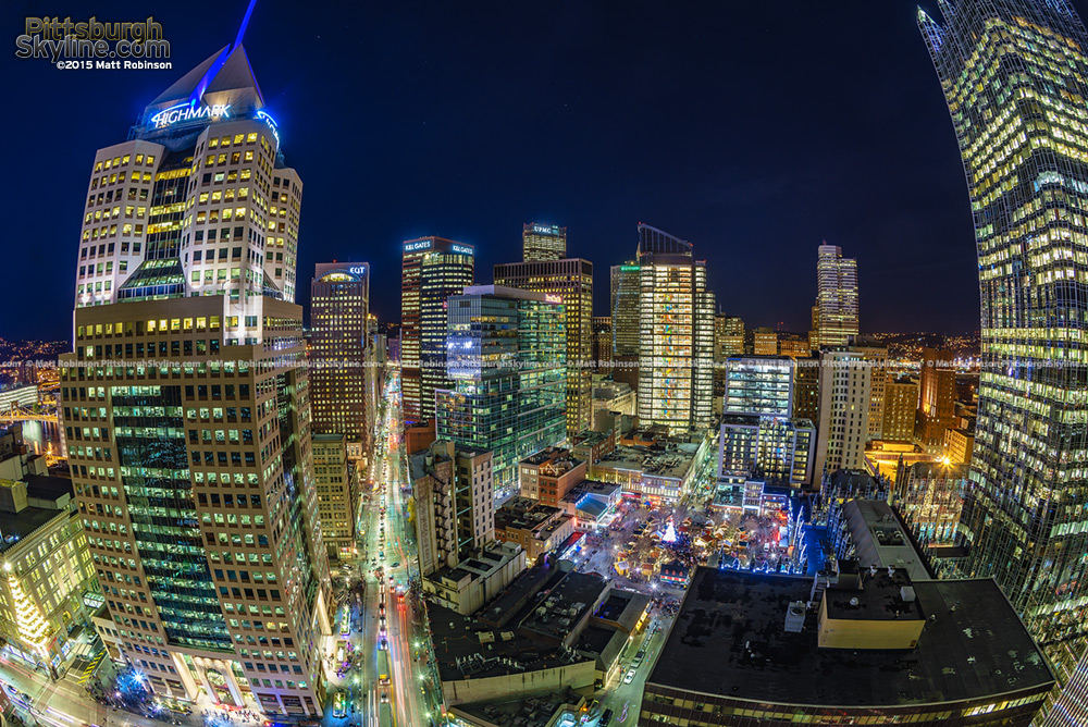Fisheye from Gateway Center 4 on Light Up Night