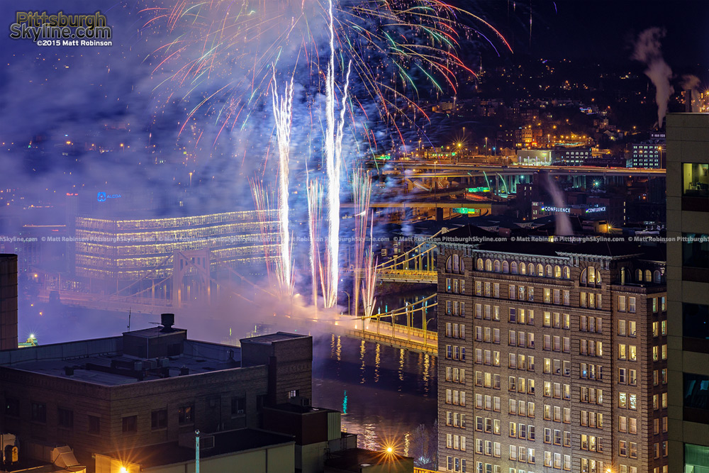 Fireworks Blast in Downtown Pittsburgh