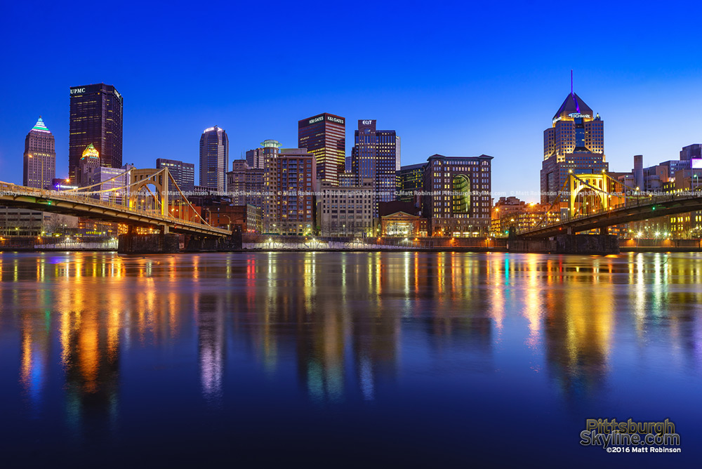 Downtown Pittsburgh Skyline 2016