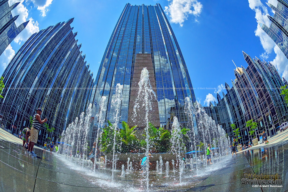 Fountain at PPG Place Summer 2016