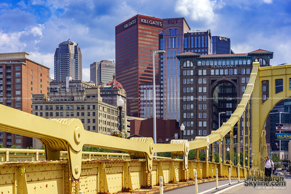 Downtown Pittsburgh from Roberto Clemente Bridge