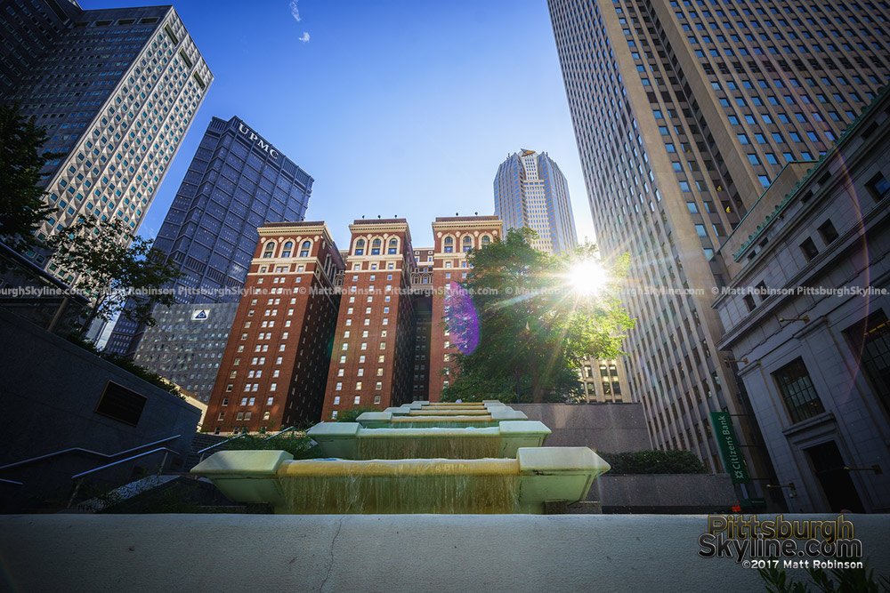Sunshines through to Mellon Square