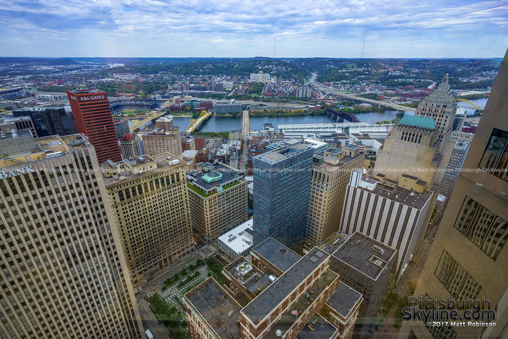 View of Downtown Pittsburgh from atop the BNY Mellon Building
