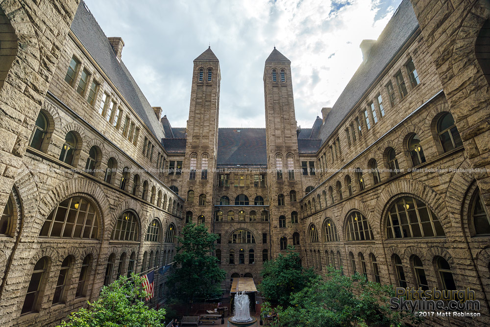 Allegheny County Courthouse courtyard