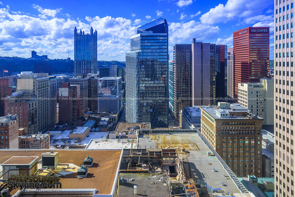 Downtown Pittsburgh view from the top of the Frick Building