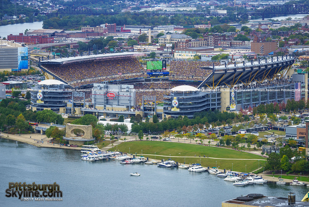 Heinz Field during a Steeler game from PPG Place
