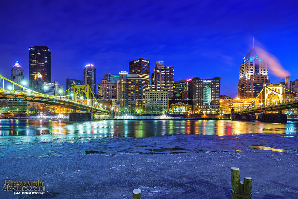 Icy Rivers in Pittsburgh