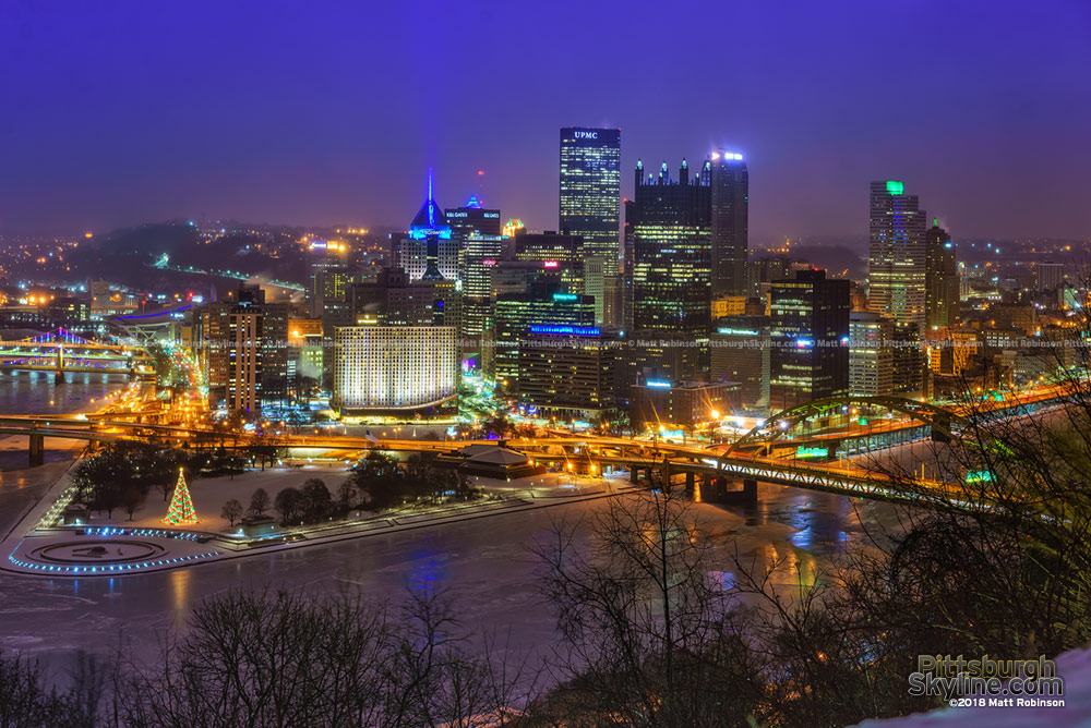 Pittsburgh Skyline from Grandview Avenue January 2018