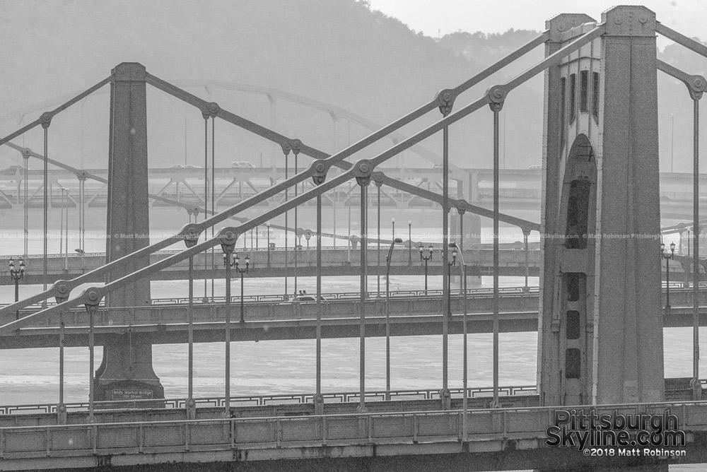 Pittsburgh bridges in the Rain